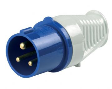 A0043 240V 16 Amp Mains Voltage Plastic Plug